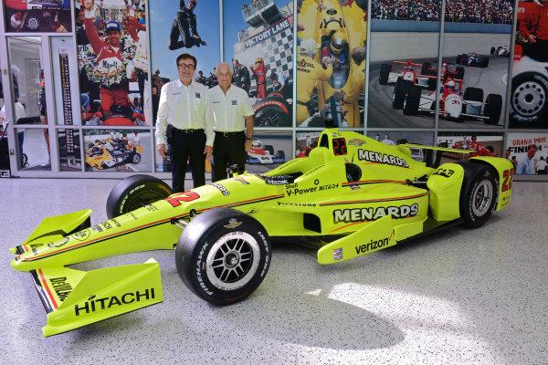 22 March,  2016, Indianapolis, Indiana USA Penske Indy 500 Sponsor Press Conference (left to right) John Menard, Roger Penske  ©2016 Walt Kuhn LAT Photo USA