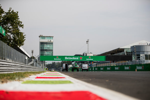2017 GP3 Series Round 6.  Autodromo Nazionale di Monza, Monza, Italy. Thursday 31 August 2017. A view of the start/finish straight. Photo: Zak Mauger/GP3 Series Media Service. ref: Digital Image _54I4850