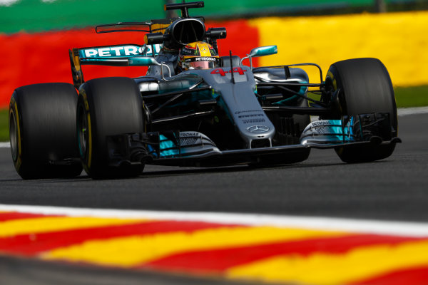 Spa Francorchamps, Belgium.  Friday 25 August 2017. Lewis Hamilton, Mercedes F1 W08 EQ Power+. World Copyright: Glenn Dunbar/LAT Images  ref: Digital Image _X4I5107