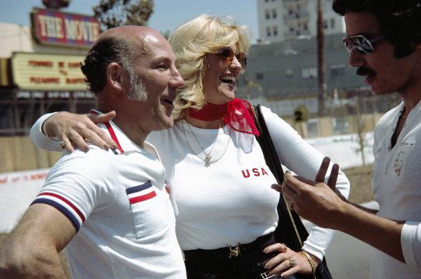 Stirling Moss and Hurst spokeswoman Linda Vaughn.
