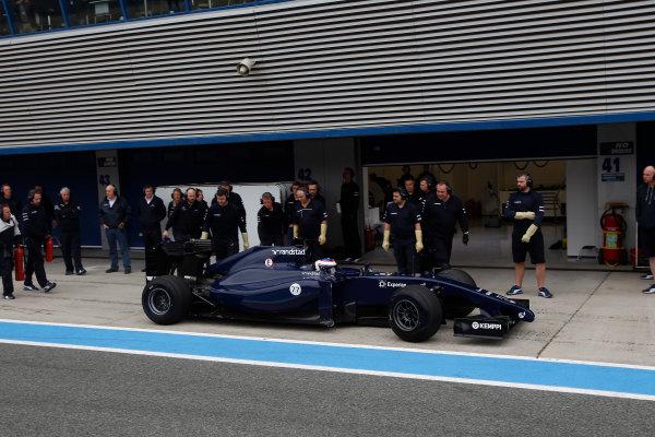 2014 F1 Pre Season Test 1 - Preview Circuito de Jerez, Jerez, Spain. Tuesday 28 January 2014. Valtteri Bottas, Williams FW36 Mercedes. World Copyright: Glenn Dunbar/LAT Photographic. ref: Digital Image _Q0C0662