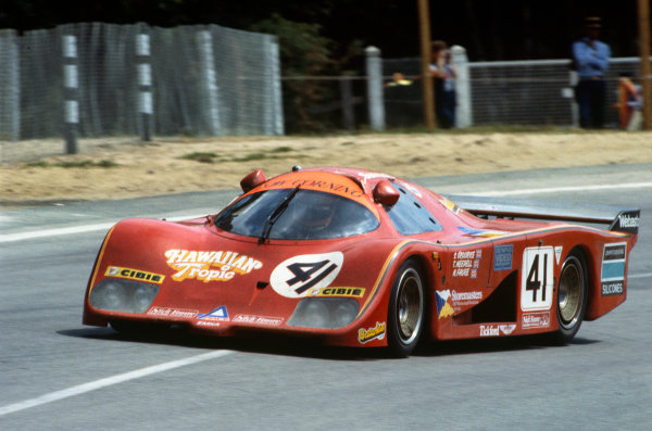 Le Mans, France. 18-19 June 1983.Tiff Needell/Steve O'Rourke/Nick Faure (EMKA C83/1 Aston Martin), 17th position, action. World Copyright: LAT Photographic.Ref:  83LM