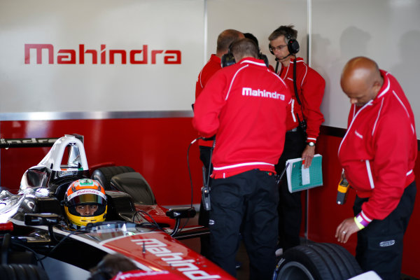 FIA Formula E Test Day, Donington Park, UK.  9th - 10th July 2014.  Karun Chandhok, Mahindra Racing. Photo: Glenn Dunbar/FIA Formula E ref: Digital Image _89P5030