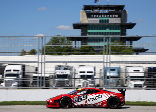 25-26 July, 2013, Indianapolis, Indiana, USA The #69 Ferrari of Emil Assentato and Anthony Lazzaro is shown in action during practice. ©2013, R.D. Ethan LAT Photo USA