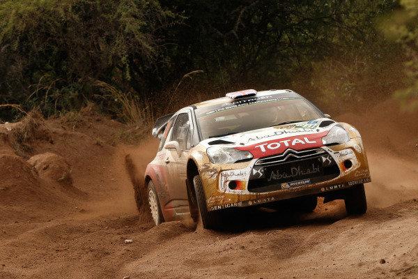 Kris Meeke (GBR) / Paul Nagle (IRE), Citroen DS3 WRC. FIA World Rally Championship, Rd5, Rally Argentina, Day One, Cordoba-Villa Carlos Paz, Argentina, 9 May 2014.