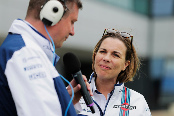Williams 40 Event Silverstone, Northants, UK Friday 2 June 2017. Claire Williams talks to David Croft. World Copyright: Zak Mauger/LAT Images ref: Digital Image _54I1936