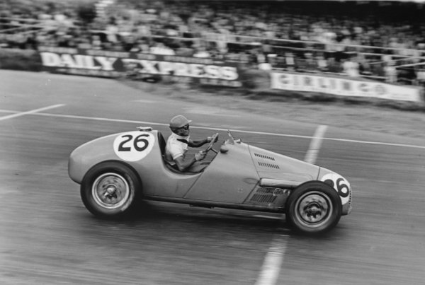"1952 British Grand Prix.Silverstone, Great Britain. 19 July 1952.""B Bira"" (Gordini T16). Ref-C32980.World Copyright - LAT Photographic"