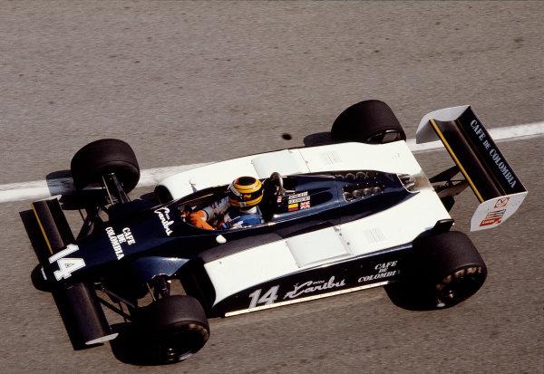 1982 Monaco Grand Prix.Monte Carlo, Monaco.20-23 May 1982.Roberto Guerrero (Ensign N181 Ford).Ref-82 MON 85.World Copyright - LAT Photographic
