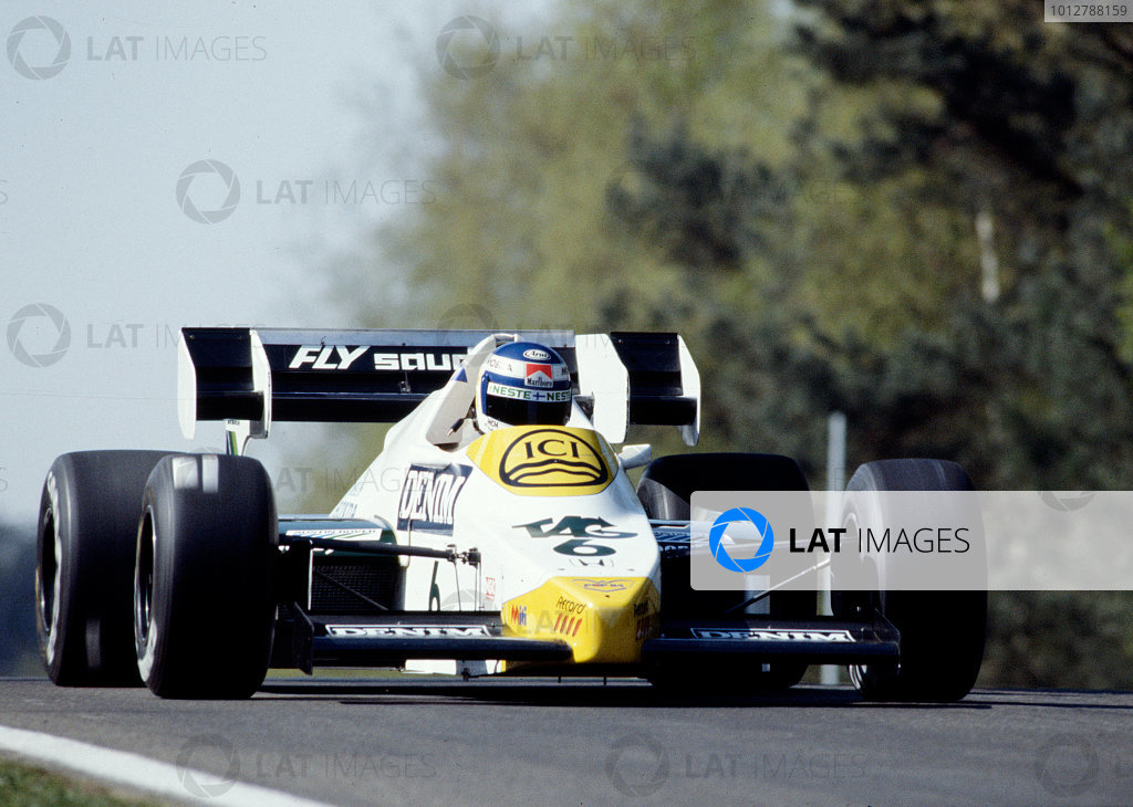 1984 Belgian Grand Prix.Zolder, Belgium.27-29 April 1984.Keke Rosberg (Williams FW09 Honda) 4th position.Ref-84 BEL 35.World Copyright - LAT Photographic
