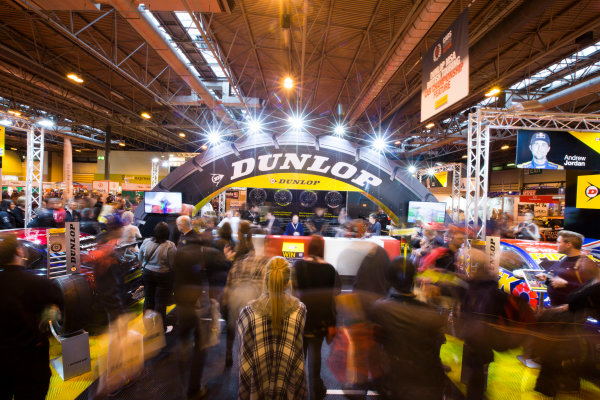 Autosport International Exhibition. National Exhibition Centre, Birmingham, UK. Sunday 11 January 2015. Fans at the Dunlop stage. World Copyright: Malcolm Griffiths/LAT Photographic. ref: Digital Image A50A4206