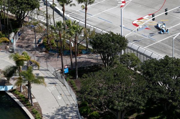 2014/2015 FIA Formula E Championship. Long Beach ePrix, Long Beach, California, United States of America. Friday 3 April 2015 Vitantonio Liuzzi (ITA)/Trulli Racing - Spark-Renault SRT_01E  Photo: Jed Leicester/LAT/Formula E ref: Digital Image _JL10634