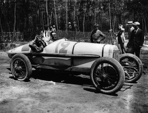 Le Mans, France. 25th July 1921. Jimmy Murphy (Duesenberg), 1st position, portrait.  World Copyright - LAT Photographic. Ref - Autocar Glass Plate 7262.