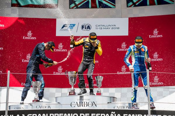 Alexander Albon (THA, DAMS), Jack Aitken (GBR, ART Grand Prix), Lando Norris (GBR, Carlin).