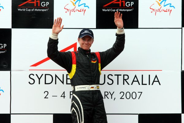 04.02 2007 Eastern Creek, Australia, Sprint Race  podium, Nico Hülkenberg, Driver of A1Team Germany - A1GP World Cup of Motorsport 2006/07, Round 7, Eastern Creek, Sunday Race 1 - Copyright A1GP - Free for editorial usage