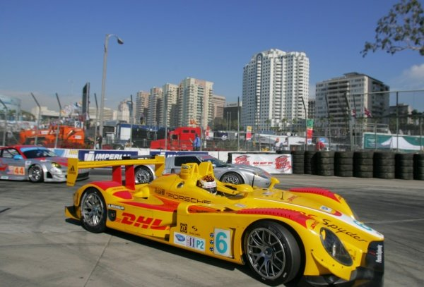 Patrick Long (USA) Penske Racing Porsche RS Spyder. American Le Mans Series, Rd3, Long Beach, USA, 18-19 April 2008.