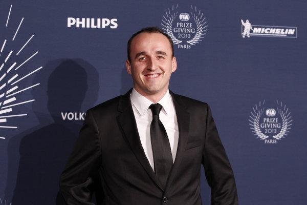 2013 FIA Gala Dinner and Awards. Paris, France. Friday 6th December 2013. Robert Kubica on the red carpet. World Copyright & Mandatory Credit: FIA. ref: Digital Image 11242062935_748410f6c4_o