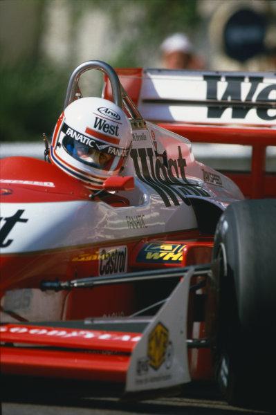 1987 Monaco Grand Prix.  Monte Carlo, Monaco. 28-31 May 1987.  Martin Brundle (Zakspeed 871) action.  Ref: 87MON09. World Copyright: LAT Photographic