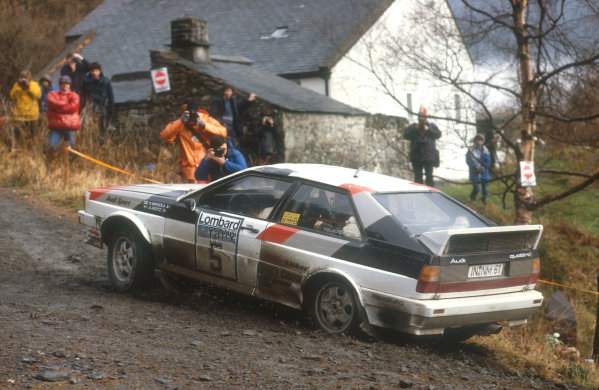 1981 World Rally Championship.Lombard RAC Rally, United Kingdom.22-25 November 1981.Hannu Mikkola/Arne Hertz (Audi Quattro) 1st position.Ref-81 RAC 03.World Copyright - LAT Photographic