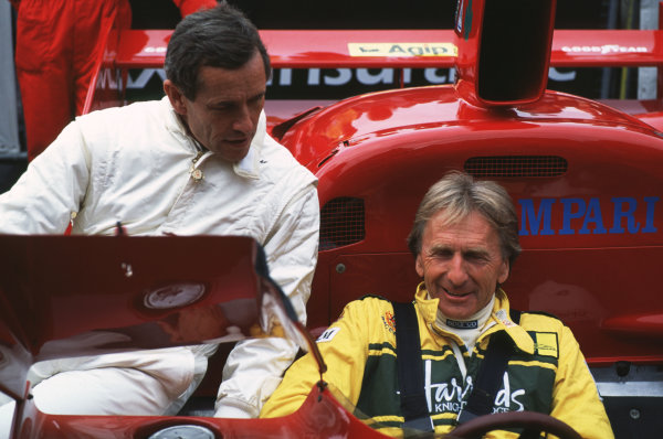 2000 Festival of Speed.Goodwood, England, Great Britain. 23-25 June 2000.Jacky Ickx and Derek Bell in an Alfa Romeo T33.World - LAT Photographic