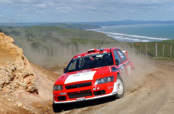 2002 World Rally Championship.Propecia Rally of New Zealand, Auckland, October 3rd-6th.Jani Paasonen on stage 4.Photo: Ralph Hardwick/LAT