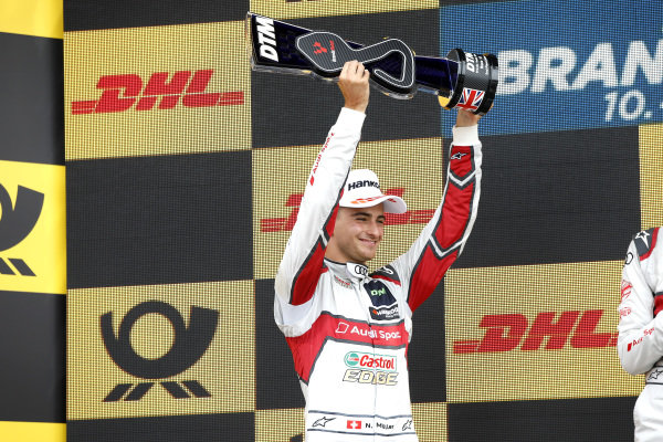 Podium: second place Nico Müller, Audi Sport Team Abt Sportsline.
