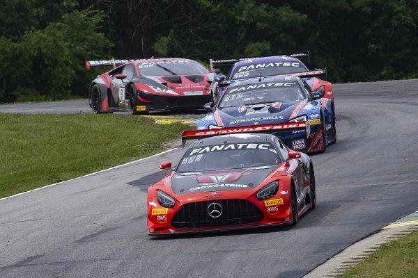 #04 Mercedes AMG GT3 of George Kurtz and Colin Braun, DXDT Racing, Fanatec GT World Challenge America powered by AWS, Pro-Am, SRO America, Virginia International Raceway, Alton, VA, June 2021.