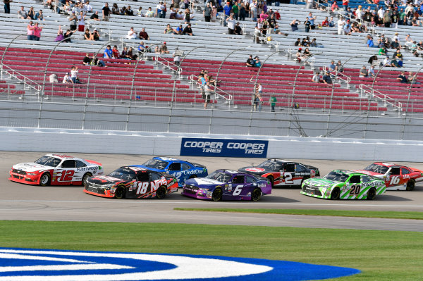 2017 NASCAR Xfinity Series - Boyd Gaming 300 Las Vegas Motor Speedway - Las Vegas, NV USA Saturday 11 March 2017 Joey Logano and Kyle Busch, NOS Energy Drink Toyota Camry World Copyright: Nigel Kinrade/LAT Images ref: Digital Image 17LAS1nk05925