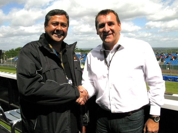 L-R: Lee Gill (GBR) and Simon Gillett (GBR) joint Chief Executives of Donington Park.