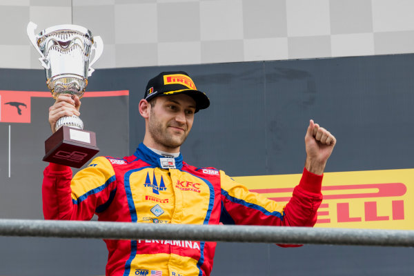2017 GP3 Series Round 5.  Spa-Francorchamps, Spa, Belgium. Sunday 27 August 2017. Ryan Tveter (USA, Trident).  Photo: Zak Mauger/GP3 Series Media Service. ref: Digital Image _56I3084