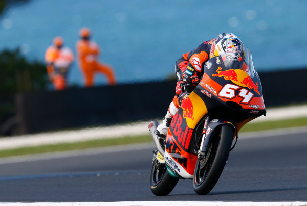 2017 Moto3 Championship - Round 16 Phillip Island, Australia. Friday 20 October 2017 Bo Bendsneyder, Red Bull KTM Ajo World Copyright: Gold and Goose / LAT Images ref: Digital Image 23283