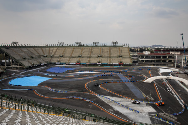 A general view as competitors practice