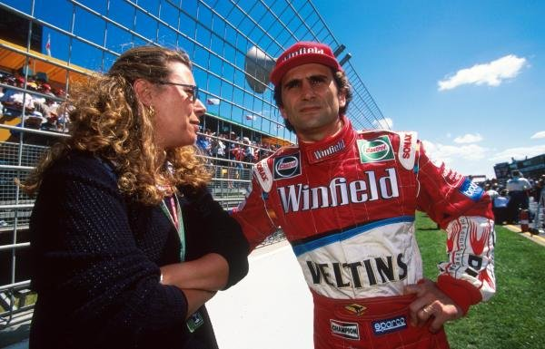 Alex Zanardi (ITA) began his return to F1 with Williams disappointingly, crashing out early in the race.
