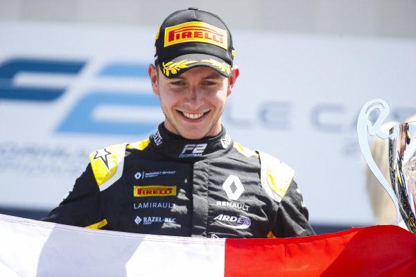 Anthoine Hubert (FRA, BWT ARDEN), celebrates victory on the podium