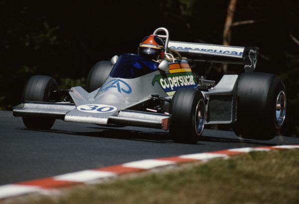 Emerson Fittipaldi, Fittipaldi FD04 Ford, during practice.