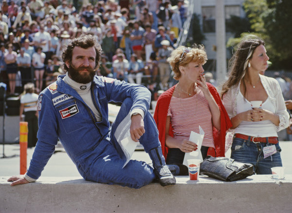 Harald Ertl in the pits.