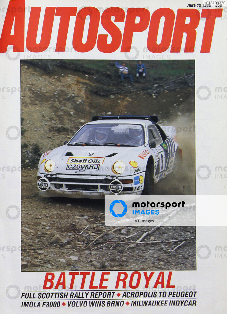 Cover of Autosport magazine, 12th June 1986