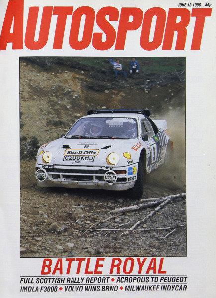 Cover of Autosport magazine, 12th June 1986