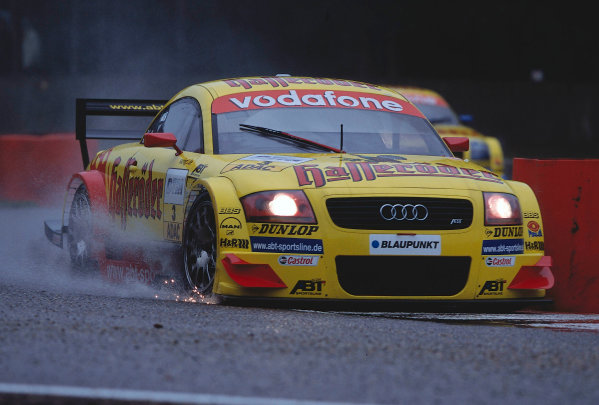2002 DTM Championship, Zolder, Belgium. Rd 2, 4th-5th May 2002.Laurent Aiello skates his way around a wet Zolder track.World Copyright: Lawrence/LAT Photographic