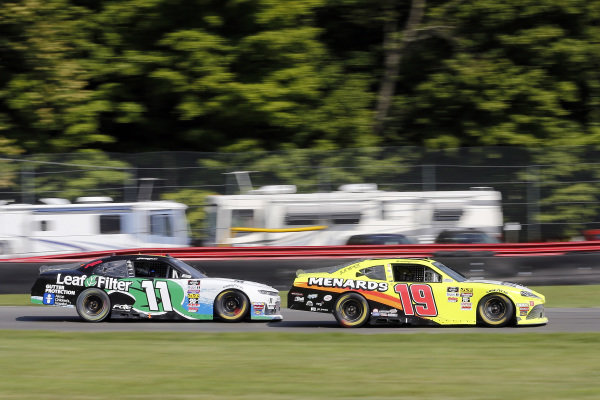 #19: Brandon Jones, Joe Gibbs Racing, Toyota Supra Menards/NRG and #11: Justin Haley, Kaulig Racing, Chevrolet Camaro LeafFilter Gutter Protection