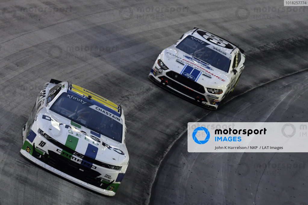 #10: Ross Chastain, Kaulig Racing, Chevrolet Camaro Dyna-Gro Seed, #98: Chase Briscoe, Stewart-Haas Racing, Ford Mustang Ford Performance Racing School