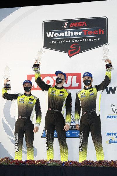 #14 AIM Vasser Sullivan Lexus RC-F GT3, GTD: Jack Hawksworth, Michael De Quesada, Aaron Telitz, podium