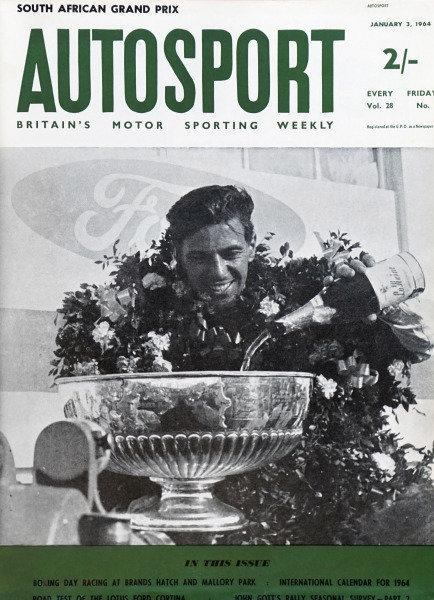 Cover of Autosport magazine, 3rd January 1964