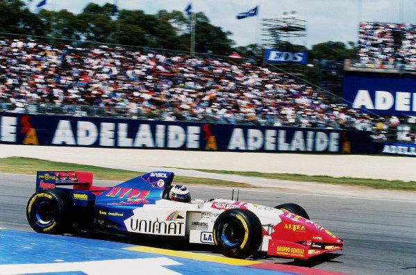 1995 Australian Grand Prix. Adelaide, Australia. 10-12 November 1995. Gianni Morbidelli (Footwork FA16 Hart) 3rd position. Ref-95 AUS 10. World Copyright - LAT Photographic