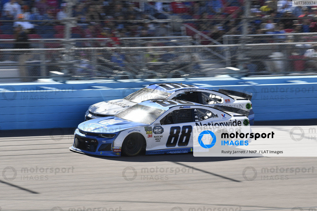 #88: Alex Bowman, Hendrick Motorsports, Chevrolet Camaro Nationwide and #00: Landon Cassill, Manscaped Racing, Chevrolet Camaro Iron Mountain Data Centers
