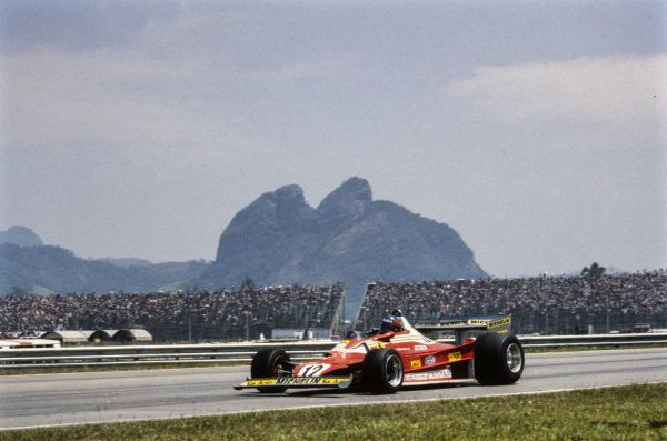 Gilles Villeneuve, Ferrari 312T2.