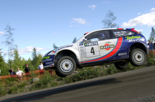 2001 World Rally Championship.Neste Rally Finland. Jyvaskyla, August 24-26, 2001.Colin McRae during shakedown.Photo: Ralph Hardwick/LAT