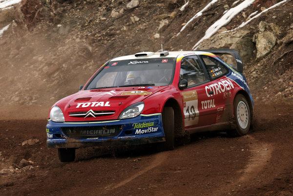 2003 FIA World Rally Championship. Kemer, Turkey. Rd3.26/2-2/3 2003.Carlos Sainz/Marc Marti (Citroen Xsara) 1st position. World Copyright: McKlein/LAT Photographic
