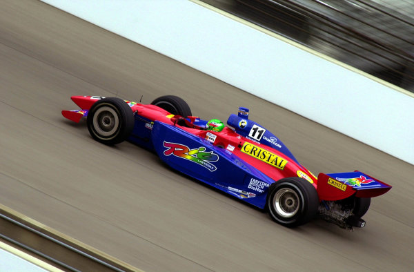 Eliseo Salazar speeds along the front straightaway.84th. Indianapolis 500, Indy Racing Northern Light Series, Indianapolis Motor Speedway, Speedway Indiana,USA 28 May,2000 -F Peirce Williams 2000 LAT PHOTOGRAPHIC