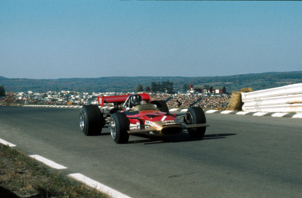 Watkins Glen, New York, USA.3-5 October 1969.Graham Hill (Lotus 49B Ford) retired.Ref-69 USA 20.World Copyright - LAT Photographic