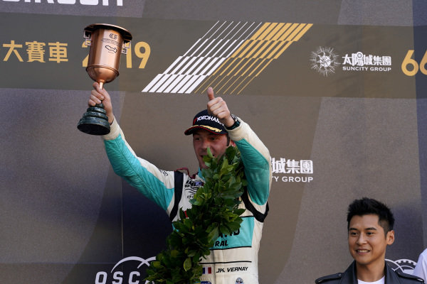 Podium: third place Jean-Karl Vernay, Leopard Racing Team Audi Sport Audi RS 3 LMS.